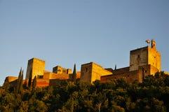 La cittadella di Alcazaba, Alhambra fotografia stock libera da diritti