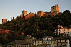 La cittadella di Alcazaba, Alhambra fotografia stock