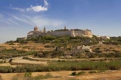 La cittadella di Mdina Immagini Stock Libere da Diritti