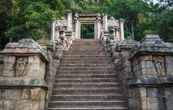 La cittadella di Yapahuwa, Sri Lanka immagine stock