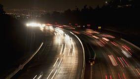 La city light trail timelapse stock footage