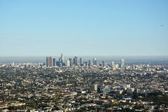LA city from the top Stock Photo