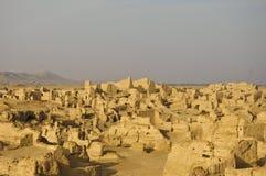 La ciudad abandonada del jiahoe, China Imagen de archivo libre de regalías
