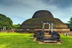 La ciudad antigua arruina stupa en el templo Sri Lanka de la ciudad de Polonnaruwa W Fotografía de archivo