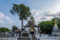 La ciudad antigua de Chiang Mai, de Tailandia Wat Chedi Luang y de x28; Wat Chedi Luang y x29; Fotografía de archivo