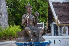 La ciudad antigua de Chiang Mai, de Tailandia Wat Chedi Luang y de x28; Wat Chedi Luang y x29; Fotos de archivo libres de regalías