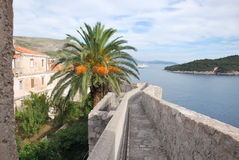 La ciudad antigua de Dubrovnik Fotos de archivo libres de regalías