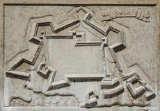La ciudad antigua de la fractura de Spalato Fotos de archivo libres de regalías