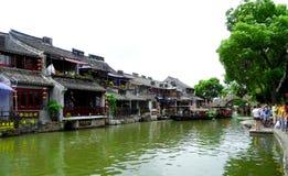 La ciudad antigua de la opinión de Xitang Fotos de archivo libres de regalías