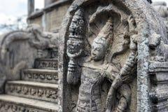 La ciudad antigua de Polonnaruwa Imágenes de archivo libres de regalías
