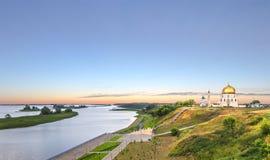 La ciudad antigua en los bancos del Volga - de Bolgar o de Bulga Imagenes de archivo