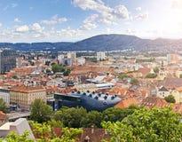 La ciudad austríaca Graz Fotografía de archivo libre de regalías