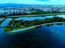 La ciudad azul es azul Fotos de archivo libres de regalías