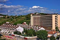 La ciudad Calella. España Imagenes de archivo