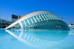 La ciudad de artes y de ciencias de Valencia Foto de archivo libre de regalías