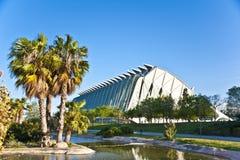 La ciudad de artes y de la ciencia en Valencia. Imagen de archivo