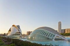 La ciudad de artes y de la ciencia en Valencia. Fotos de archivo libres de regalías