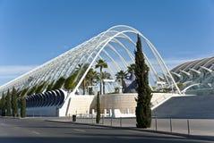 La ciudad de artes y de la ciencia en Valencia. Imagen de archivo libre de regalías