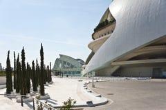 La ciudad de artes y de la ciencia en Valencia. Foto de archivo libre de regalías