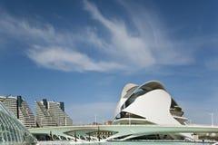 La ciudad de artes y de la ciencia en Valencia. Fotografía de archivo libre de regalías