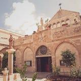 La ciudad de Bethlehem La iglesia de la natividad imagen de archivo