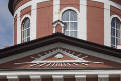 La ciudad de Birsk Un fragmento del edificio de la iglesia de t Fotos de archivo libres de regalías
