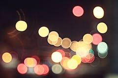 La ciudad de Boken enciende noche Foto de archivo libre de regalías