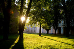 La ciudad de Bystrzyca Klodzka Imagen de archivo libre de regalías