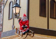 La ciudad de Colmar se adorna para la Navidad Fotografía de archivo