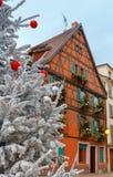 La ciudad de Colmar se adorna para la Navidad Fotos de archivo libres de regalías