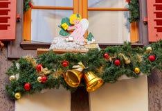 La ciudad de Colmar se adorna para la Navidad Fotografía de archivo libre de regalías