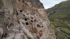 La ciudad de la cueva de Vardzia almacen de metraje de vídeo