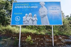 La ciudad de Fátima en Portugal central, hogar a un peregrinaje católico Foto de archivo libre de regalías