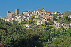 La ciudad de Itri, Italia Foto de archivo libre de regalías