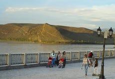 La ciudad de Kyzyl Tuva 2017 años Foto de archivo