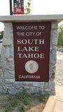 La ciudad de la azada del sur del ya del lago fotografía de archivo libre de regalías