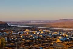 La ciudad de la frontera chino-rusa Imagen de archivo libre de regalías