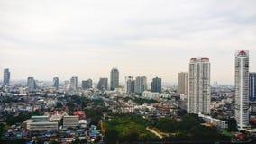 La ciudad de la mañana Foto de archivo libre de regalías