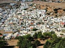 La ciudad de Lindos en Rodas Imagen de archivo libre de regalías