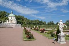 La ciudad de Lomonosov, palacio de Menshikov Foto de archivo libre de regalías
