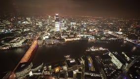 La ciudad de Londres del este de la visión aérea almacen de metraje de vídeo