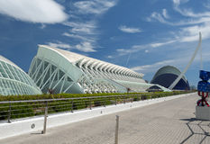 La ciudad de los artes y de las ciencias Valencia Fotos de archivo libres de regalías
