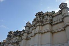 La ciudad de los lagos Udaipur, palacio de la ciudad, edificio de la herencia, gran historia, dinastía de Mewar, familia real foto de archivo libre de regalías