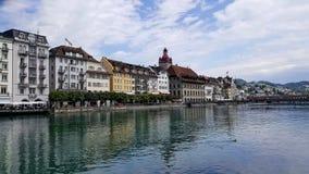 La ciudad de Lucern en Suiza Fotografía de archivo