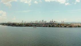 La ciudad de Manila, la capital de las Filipinas almacen de video