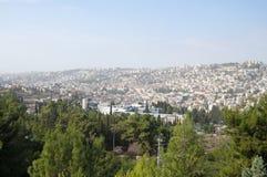 La ciudad de Nazaret un lugar del acebo para todos los cristianos Foto de archivo libre de regalías
