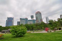 La ciudad de Niagara Falls Foto de archivo