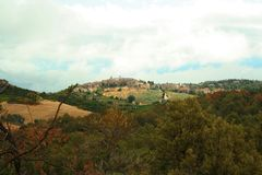 La ciudad de Pienza Fotografía de archivo