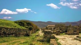 La ciudad de Pompeya, destruida en 79 A.C. la erupción del monte Vesubio almacen de video