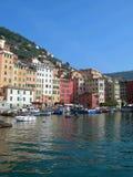 La ciudad de Portofino, Italia fotos de archivo